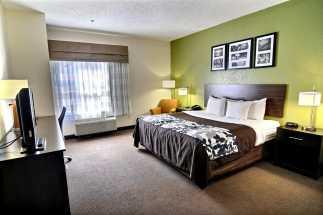 Jacksonville NC Sleep Inn and Suites - King Bedroom at Sleep Inn Jacksonville NC