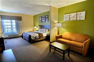 Jacksonville NC Sleep Inn and Suites - King Suite at Jacksonville Sleep Inn